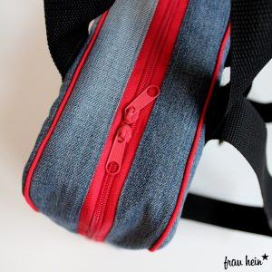 frau hein: Fernweh Rucksack Jeans Upcycling (Schnittmuster: Lotte&Ludwig)
