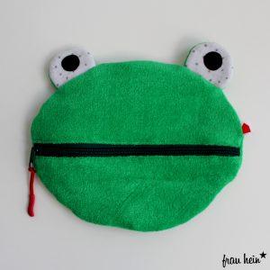 frau hein: Frosch Kulturtasche fuer Kinder (Freebook Herzkind)