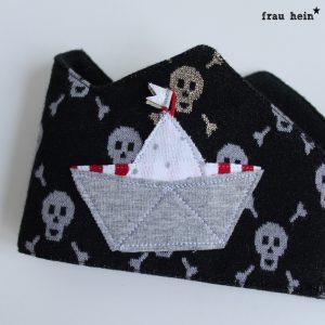 frau hein: Piraten Geburtstagskrone (Applikationsvorlage: von Lange Hand)