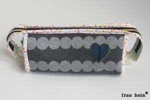 frau hein: Hummelhonig Cozy Dots Sew together bags - Teil 1 mint und grau